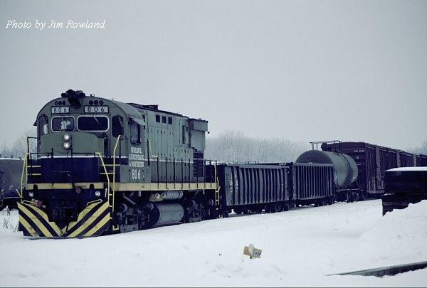 MHWA 806 at Utica, NY 01-23-01. (Photo by Jim Rowland)