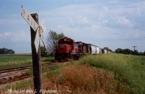 KBSR w/b nearing Iroquois Jct. IL 07/17/00  (Photo by Amy L. Valentine)