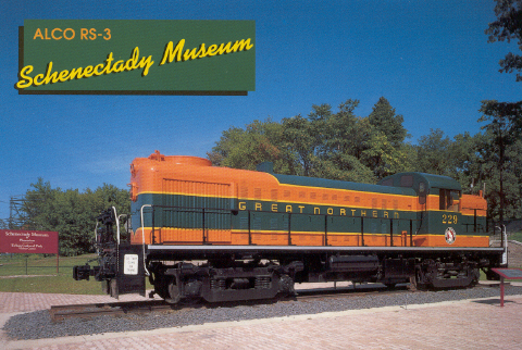 GN RS3 229 at the Schenectady Museum. (Collection of Amy Valentine)