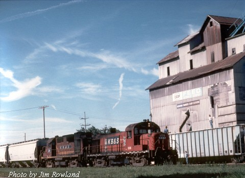 A morning KBSR turn to Saint Anne, IL is seen passing through Donovan, IL on July 18, 2000.