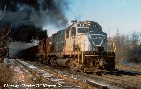 LHR C420 24 with train (Photo by Charles W. Houser, Sr)