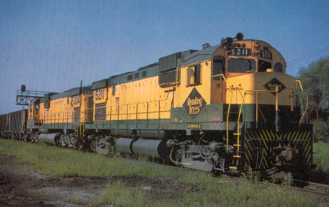 RDG C430 5211heads east at Allentown, PA on  August 06, 1967 (Photo by Richard R. Wallin, Collection of Jim Rowland)